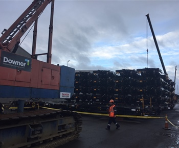 Wagon unloading for Kiwirail at the Port of Tauranga July 2018